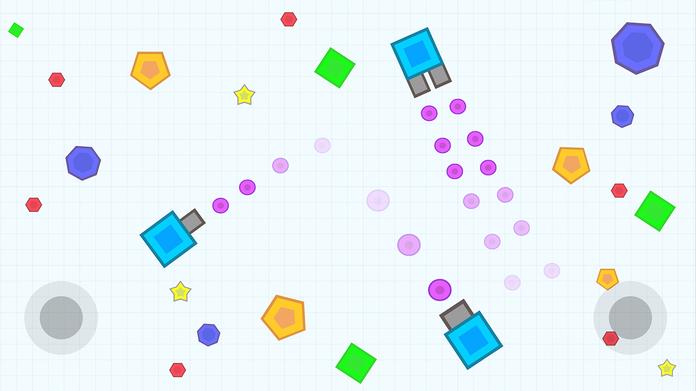 Tank War - Geometry Go Shot Color Dot.IO Screenshot