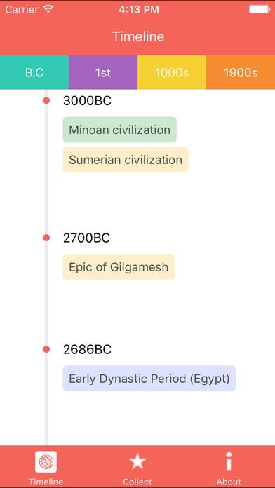 Timeline - World history Screenshot