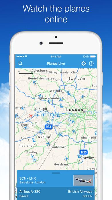 Planes Live Free - Flight Status Tracker & Radar Screenshot