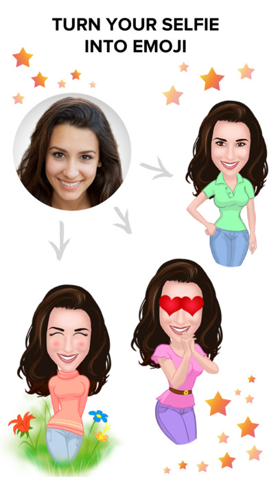 Ommy Stickers & Emoji Maker – Selfie Photo Editor Screenshot