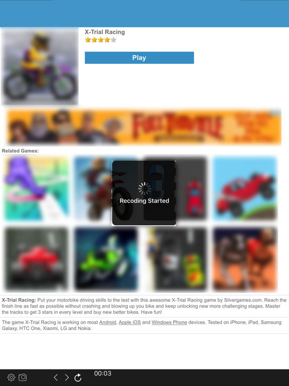 Web Browser Recorder for HTML5 Online Web Games Screenshot
