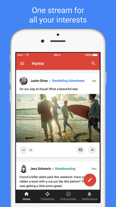 Google+ – interests, communities, discovery Screenshot