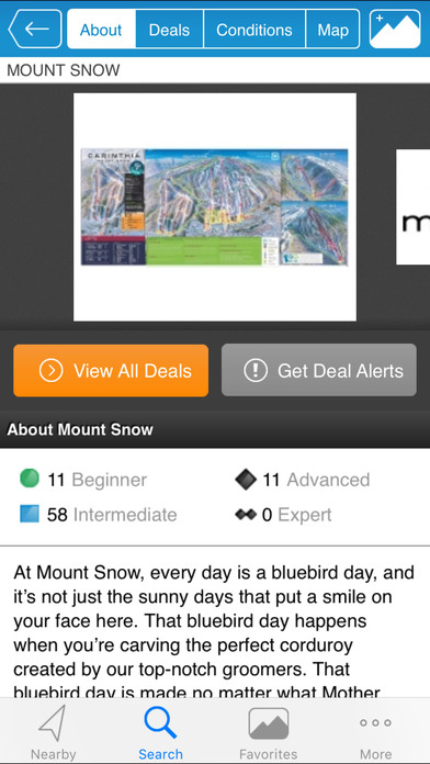 Liftopia Lift Tickets and Snow Conditions Screenshot
