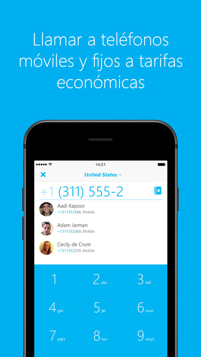 Skype para iPhone Screenshot