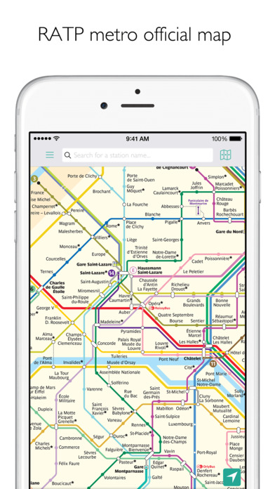 Paris Metro Map – Departures and route planner Screenshot