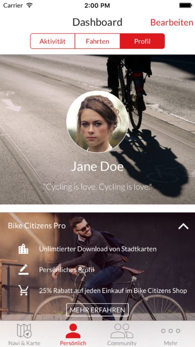Bike Citizens – Fahrrad-Navi Screenshot