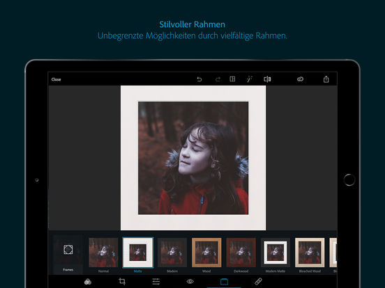 Adobe Photoshop Express : Fotos bearbeiten Screenshot