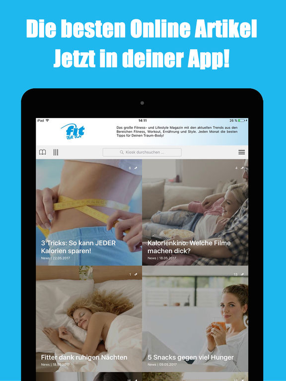 fit for fun magazin app insight download. Black Bedroom Furniture Sets. Home Design Ideas