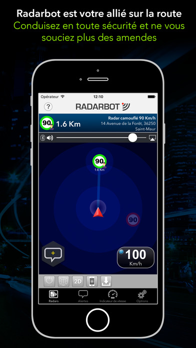 radarbot pro d tecteur de radars alertes trafic dans l app store. Black Bedroom Furniture Sets. Home Design Ideas