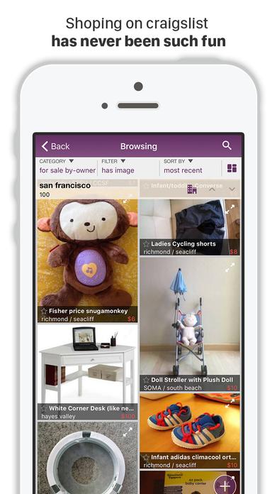 CPlus for Craigslist app - mobile classifieds Screenshot