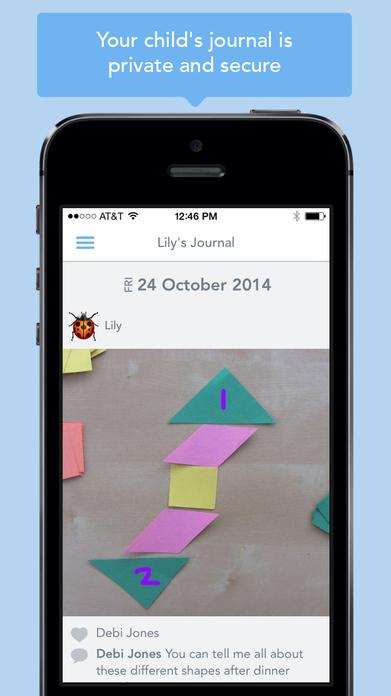 Seesaw Parent Access Screenshot