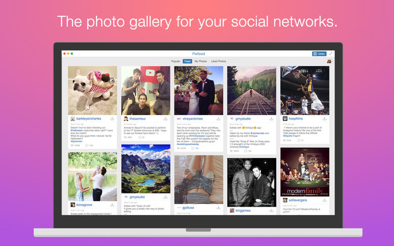 Pixfeed- Photo gallery for Instagram, Facebook, | Free Mac