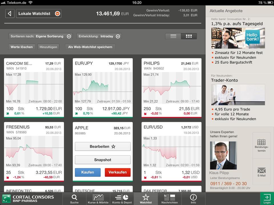Cortal Consors Online Banking Login