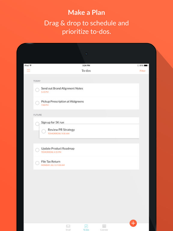 Handle: GTD To-do List and Calendar Management Screenshot