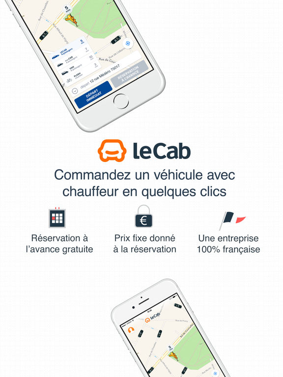 lecab vtc chauffeur priv partout en france dans l app store. Black Bedroom Furniture Sets. Home Design Ideas