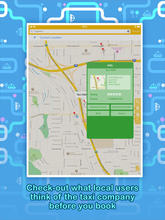 Call a Taxi - Instantly find a taxi-cab, anytime Screenshot