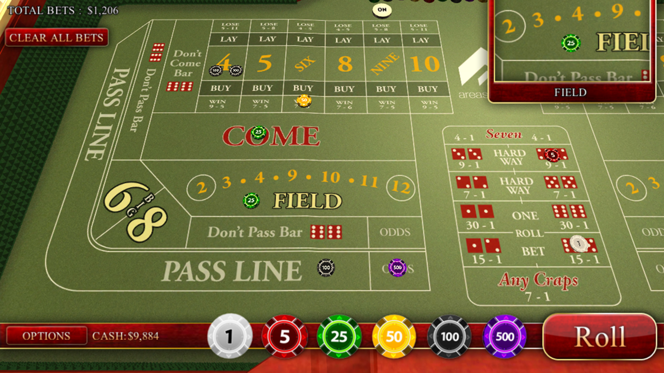 Craps Master 3D Screenshot