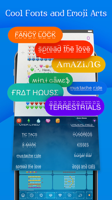 FancyKey - Emoji Keyboard Themes & Cool Fonts Screenshot