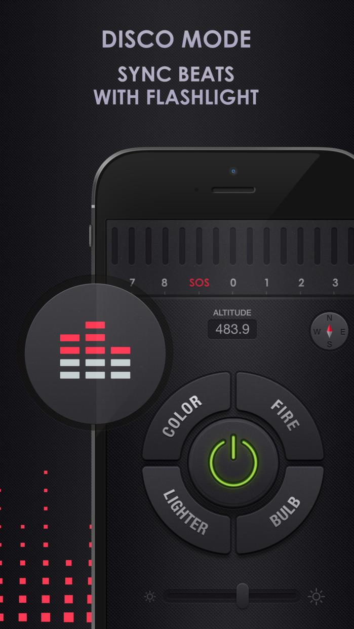 Flashlight for iPhone , iPod and iPad Screenshot