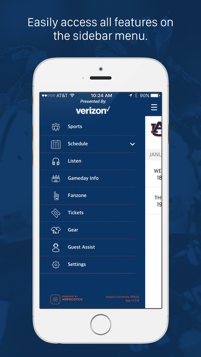 Auburn Athletics Screenshot