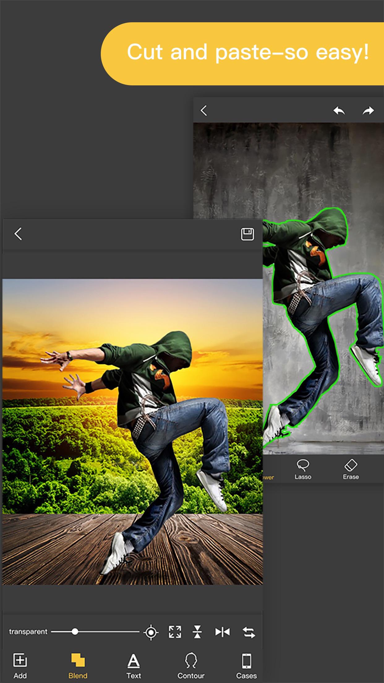 Pro KnockOut-Photo Editor+ Cut Out& Mix Background Screenshot