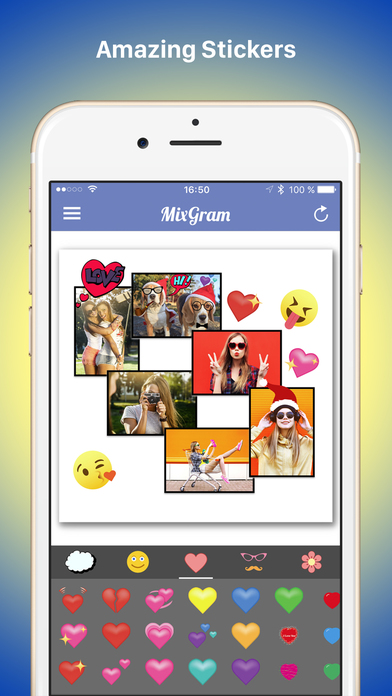 Mixgram - Picture Collage Maker - Pic Photo Editor Screenshot