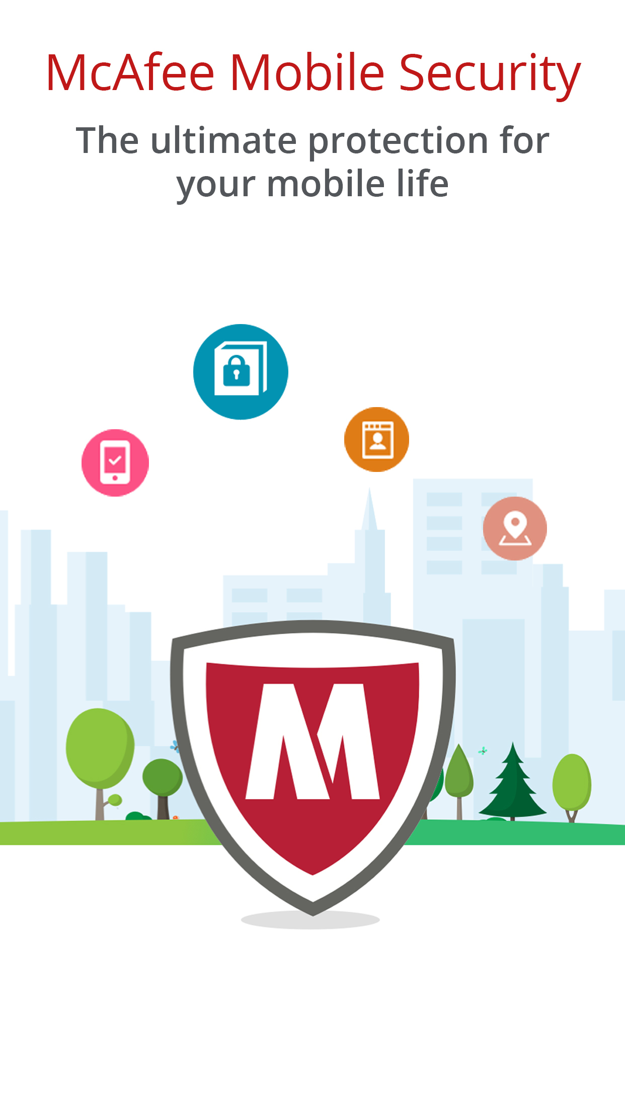 McAfee Mobile Security - Vault and Contacts Backup Screenshot