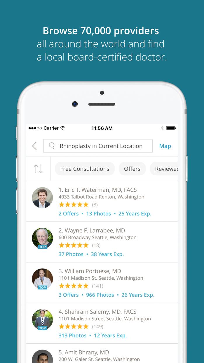 RealSelf – Cosmetic Treatments, Doctors, Reviews Screenshot