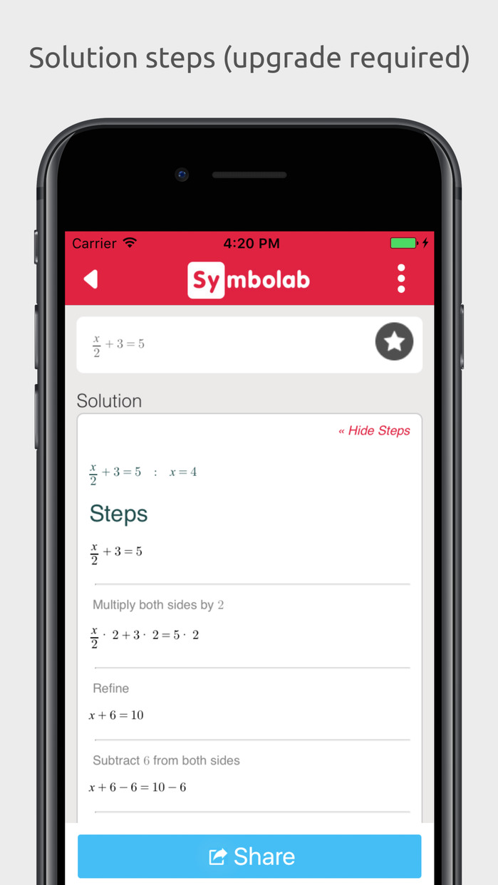 Symbolab - Calculator with steps Screenshot