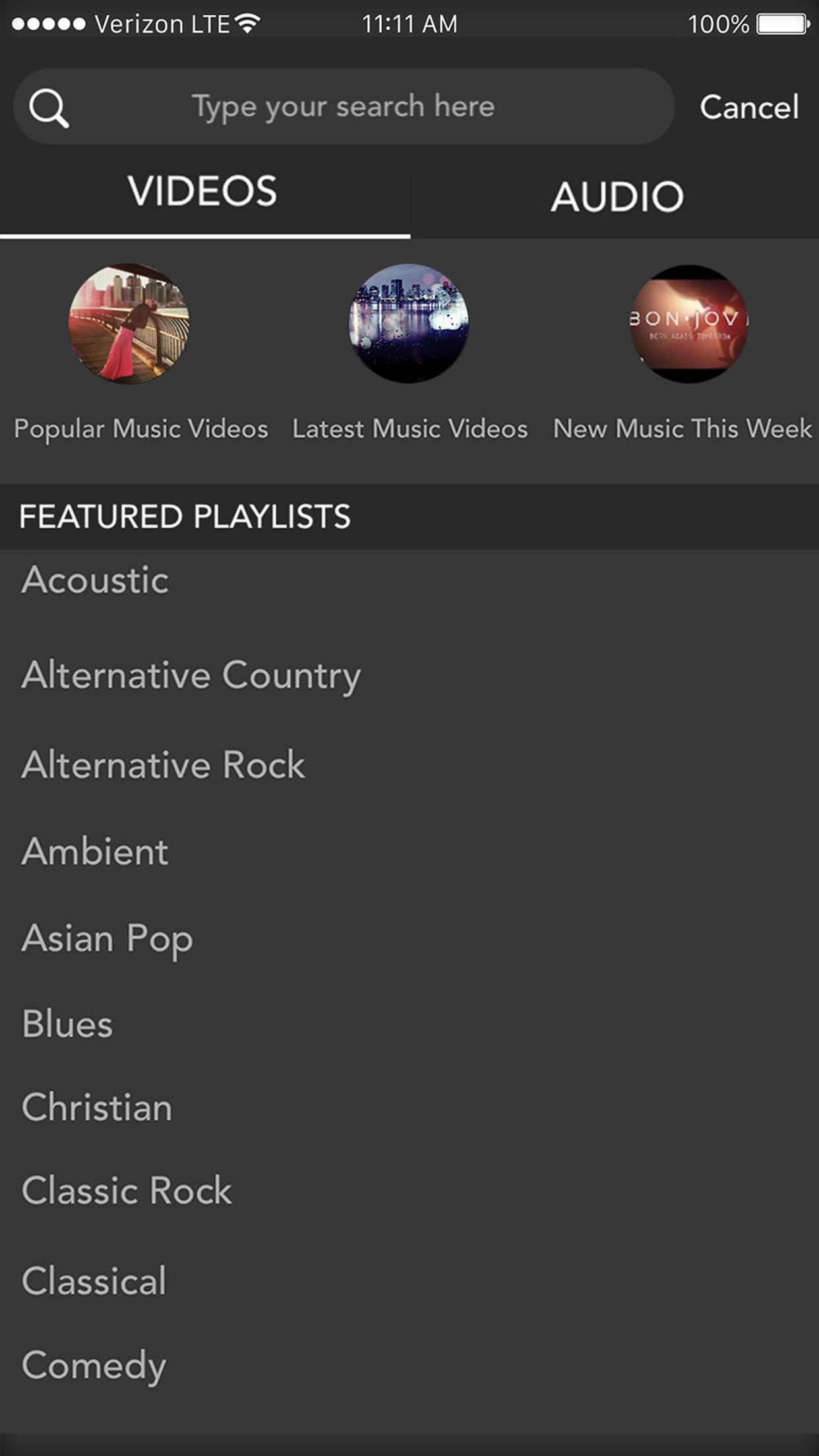 Musinow - Unlimited Music & Video Play.er Screenshot