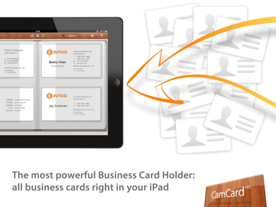 Camcard hd business card scanner reader app store revenue ipad reheart Images