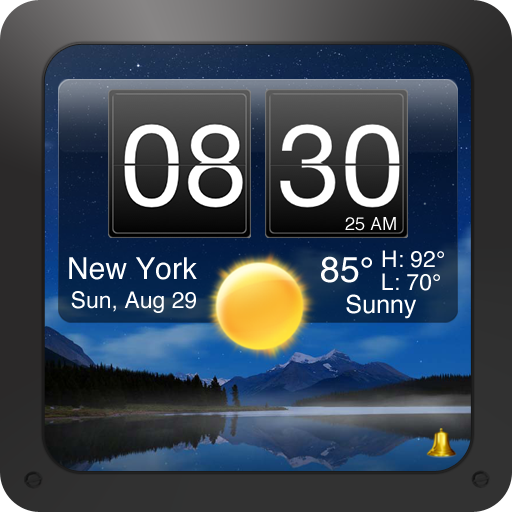 Nightstand Central for iPad - Music Alarm Clock with Weather and Photos