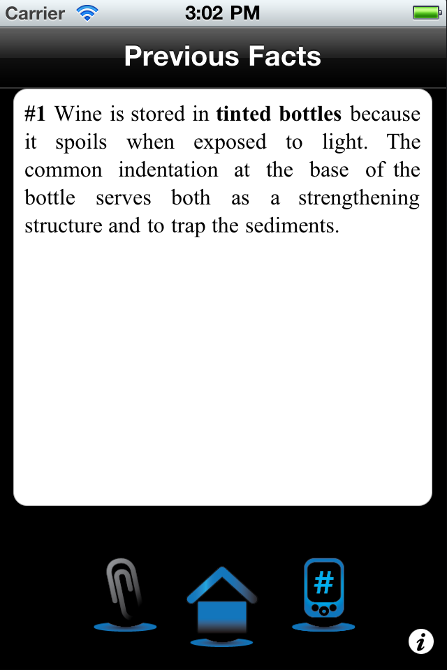 Fact File Screenshot