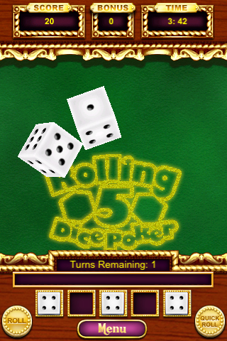 Rolling 5 Dice Poker screenshot #2