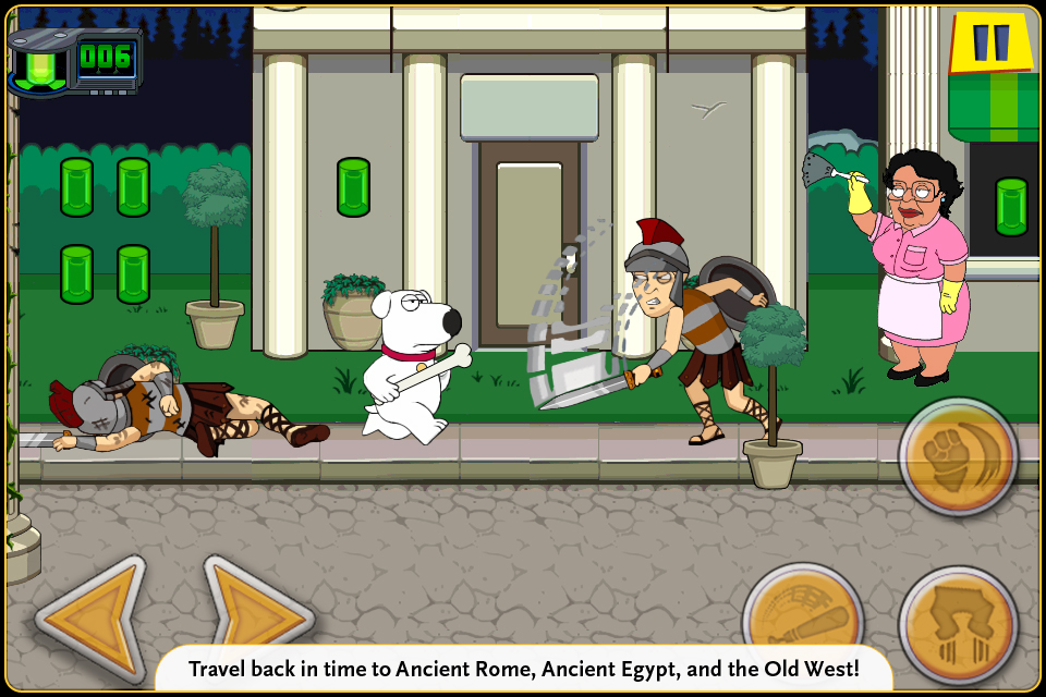 Family Guy Time Warped Lite screenshot 1