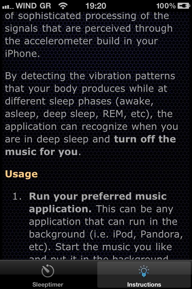 Autosleep Music Timer Screenshot