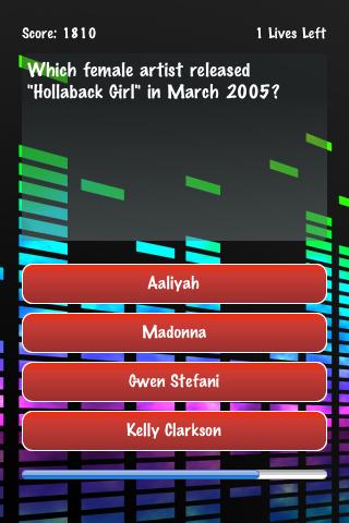 Name The Artist 00's Screenshot