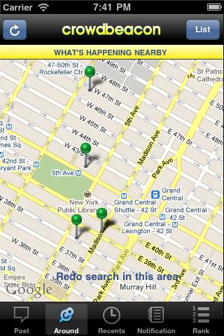 Crowdbeacon screenshot 3