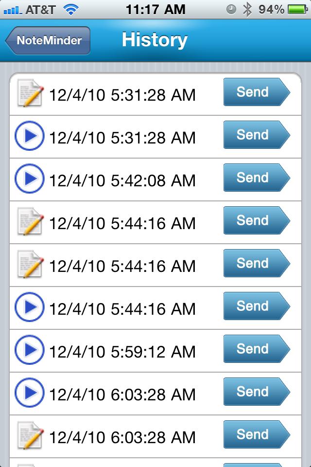 NoteMinder Screenshot