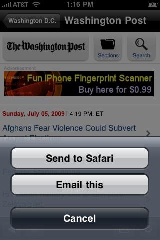 Washington D.C. Local News Screenshot