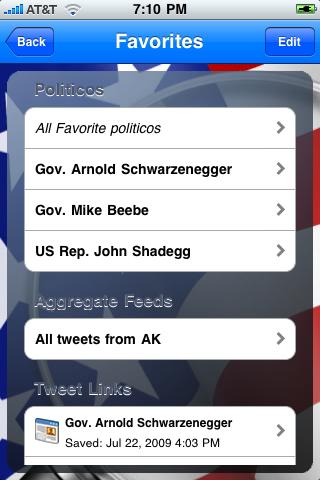 politicoTracker Twitter Edition screenshot 3