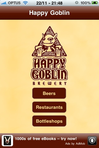 Happy Goblin Brewery App for Free - iphone/ipad/ipod touch