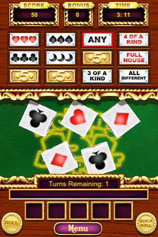 Rolling 5 Dice Poker screenshot #5
