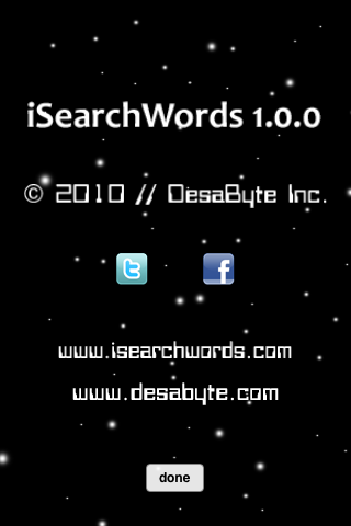 iSearchWords Screenshot