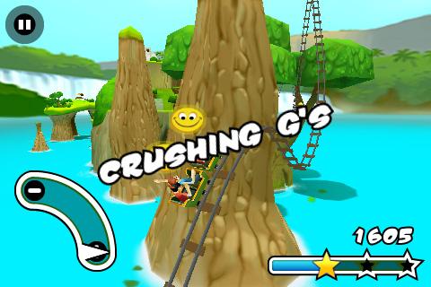 Jurassic 3D Rollercoaster Rush 2 Screenshot