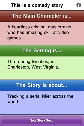 Story Seed Generator Screenshot
