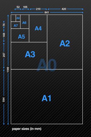 Paper Sizes Screenshot