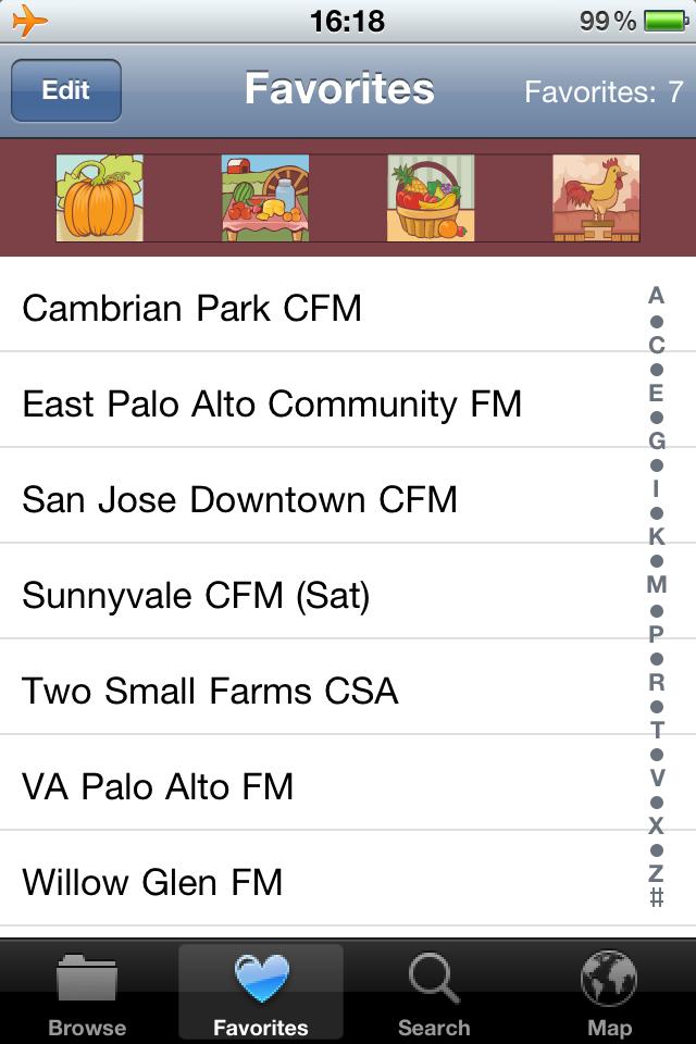 Farmers Market Finder Screenshot