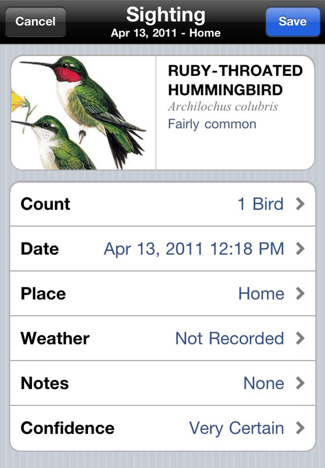 Peterson Feeder Birds of North America Screenshot