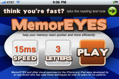 MemorEYES screenshot 1